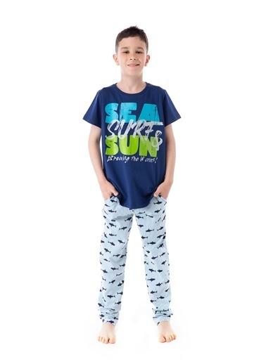 Pamuk & Pamuk Desenli Genç Erkek Pijama Takım Renkli